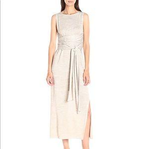 Theory Linen Blend Midi Dress